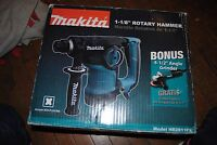 "Makita HR2811FX 1 1/8"" Rotary Hammer Drill w/ BONUS GRINDER NIB"
