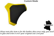 BLACK & YELLOW CUSTOM FITS DUCATI 848 1098 1198 LEATHER SEAT COWL PAD COVER