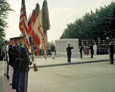President John F. Kennedy lays wreath at Tomb of Unknown Soldier New 8x10 Photo