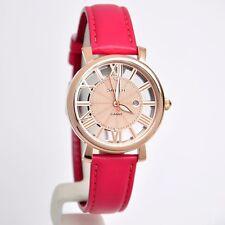 "Casio Sheen Bright ""Vitamin Color"" Leather Strap Ladies Watch SHE-4047LTD-4A"