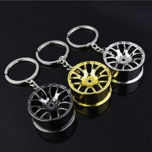 Creative Wheel Hub Rim Model Man's Keychain Car Key Chain Cool Keyring Gift JUS