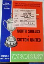More details for north shields v sutton utd ticket+programme f.a. amat. cup final 12/4/69 wembley