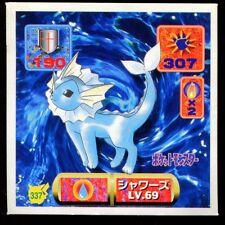 POKEMON STICKER Carte JAPANESE 50X50 1997 NORMAL N° 337 AQUALI VAPOREON