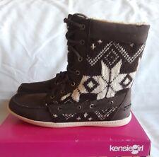 Women Kensie Girl Spenser Boots Brown Beige 8M