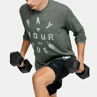 Project Rock Under Armour Pay Your Dues Long Sleeve Shirt Gray Size 1346100 012