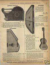 1892 PAPER AD The Arion Guitar Harp Zither Dulcimer Mandolin Banjo Instruments