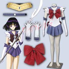 Cafiona Sailor Moon Tomoe Hotaru Sailor Saturn Cosplay Costume Sexy Dress Set