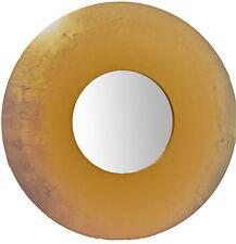 Specchio rotondo diam. 70 foglia oro, per ingresso camera bagno made in Italy