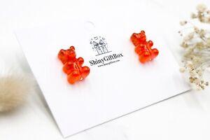 Gummy Bear / Novelty Candy Lollies Earrings Studs - Red