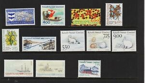Greenland - 12 mint from 1992-94, cat. $ 32.75