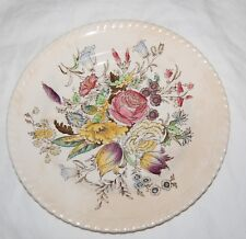 Vintage Johnson Bros. Windsor Ware Garden Bouquet Saucer Plate Tea Cup 2 Pc UK
