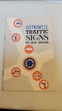K1775 Vietnam Us Army Macv Booklet Vietnamese Traffic Signs in Color L3E