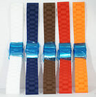 Silicone rubber deployment watch strap Free pins and tool 18 20 22 24 divers #4