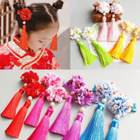 Accessories Chinese Traditional Tassel Hair Clips New Year Flower Hairpins