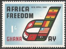 Ghana Stamp - Scott #77/A22 1sh Blue, Black & Red OG MNH 1960