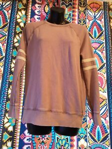 AMERICAN Eagle JEGGING Fit Very SOFT Purple striped Sweatshirt XS Extra Small