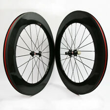 Carbon 700C Road Bike Wheelset 88mm Depth Novatec 271 372 Hub Clincher 3K Glossy