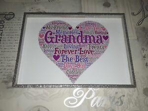 grandma birthday christmas gift word art