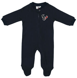 OuterStuff NFL Newborn Team Color and Logo Fleece Sleeper, Houston Texans