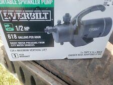 Everbilt 1/2 HP Portable Utility Sprinkler Pump PUP60