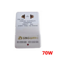 110V/120V to 220V/240V Step-Up & Down Voltage Converter 70W Transformer White