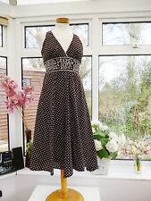 Monsoon Spotted Sleeveless Dresses Midi for Women