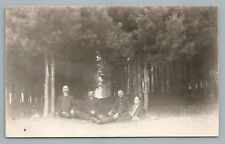 Forest Men—Oka? Quebec RPPC Police? Priests? Nicolet CPA Coulombe Photo 1910s