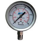 "New PRM 0-50 PSI Pressure Gauge 2.5"" SS Case 1⁄4"" NPT SS Bottom"