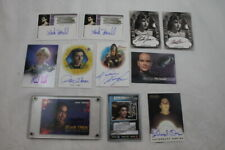 Lot of 11 Star Trek Autographed Cards Voyager Deep Space Nine Next Gen Ds9 Tng