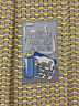 "HERMES TIE 645869 SA Yellow 100% Silk Tie ""Spray Bottle"" New in box without tags"
