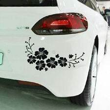 2pcs Black Flower Stickers For Auto Car Graphics Window Decals Decoration New