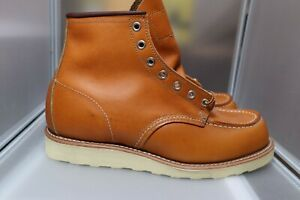 Red Wing 9875 8 E Gold Russet Sequoia Irish Setter USA Japan Moc Toe Boot 9874