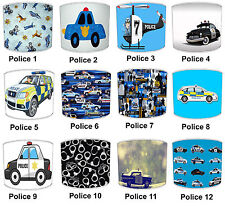 Kids 999 911 Police Lampshades, Ideal To Match Children`s Police Night Lights.