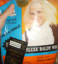 Michelle's Wig Collection Deluxe Baldy Wig White Franco-American 1997 Halloween