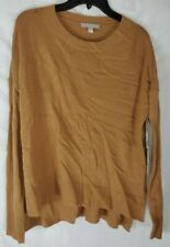 Chelsea28 Women's Beige Small Crewneck High/Low Long Sleeve Sweater New with Tag