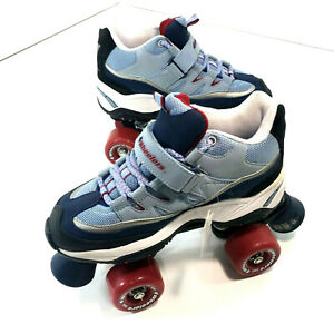 4 Wheelers By Sketchers Roller Skates Women's US Size 7 Blue/Red SN 1001 F20