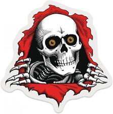 "POWELL PERALTA / BONES Ripper Skateboard Sticker - Clear - 3"" BONES BRIGADE"