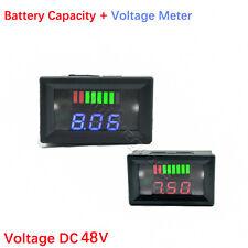 DC 48V Acid-Lead Battery Capacity Voltage Meter Digital LED Voltmeter Tester Car