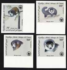 Comoro Is. WWF Mongoose Lemur 4v imperf with margins 1987 ** MNH SG#613-616