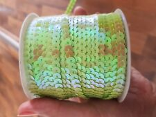 sew on string SEQUIN 6mm lime green ab sequin dressmaking trim trimming