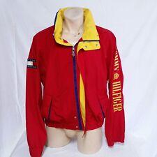 VTG Tommy Hilfiger Sailing Jacket Coat Spell Out Colorblock Lotus 90s Ski XL