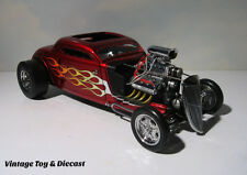 ~ GMP  1934 Ford Blown Altered Nitro Coupe Drag - 1:18 diecast - Burgundy Flames