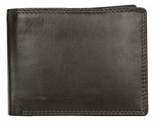 Dark brown genuine leather wallet. Just leather. No fabric lining