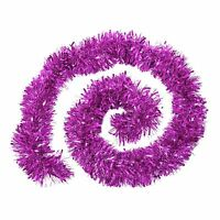 Thick Chunky Luxury Metallic Christmas Tree Tinsel Decoration - Hot Pink
