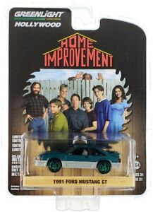 Chase 1991 FORD MUSTANG GT GREEN HOME IMPROVEMENT 1/64 GREENLIGHT 44910 C
