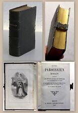 Nouveau Paroissien Romain 1852 Dekorativer Einband ziselierte Silberbeschläge xz
