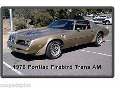 1978 Pontiac Firebird Trans Am Auto Car  Refrigerator / Tool Box  Magnet