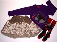 OILILY Girl Holiday Boutique Cowgirl Outfit Set Lot Top Skirt Tall Socks 4  5 B1