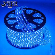 BLUE LED Strip 220V- 240V  Waterproof 5050 SMD Lights Rope+ Free AC Adopter