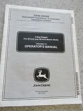 """John Deere 2 bag bagger 42"""" & 48"""" mower decks Operators Manual   OMGX20927 K1"""